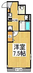 メゾンル・シェル清瀬[1階]の間取り