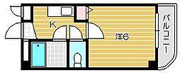 大阪府摂津市千里丘東1丁目の賃貸マンションの間取り