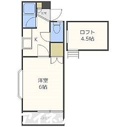 福岡県福岡市城南区松山2丁目の賃貸アパートの間取り