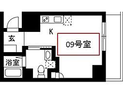 神奈川県川崎市幸区南幸町3丁目の賃貸アパートの間取り
