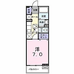 小田急江ノ島線 桜ヶ丘駅 徒歩6分の賃貸アパート 1階1Kの間取り