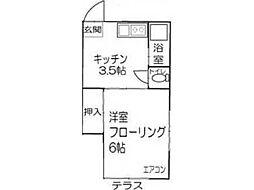 富士コーポ[2階]の間取り