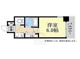 大阪府大阪市中央区安堂寺町1の賃貸マンションの間取り