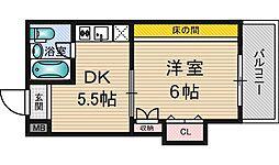 新大阪野元ビル[3階]の間取り