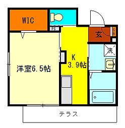 Maison Endo 1階1Kの間取り