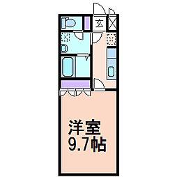 ルミエールM[2階]の間取り