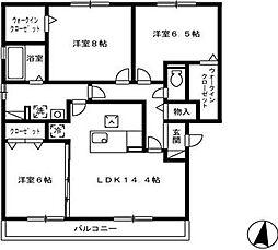 広島県福山市東深津町2丁目の賃貸アパートの間取り