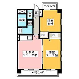 コンフォートR&M[3階]の間取り