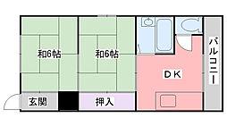 西三城荘[7号室]の間取り