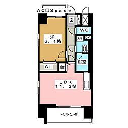 FUTURE HOKIMA 4階1LDKの間取り