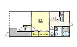 東京都江戸川区南小岩1丁目の賃貸アパートの間取り