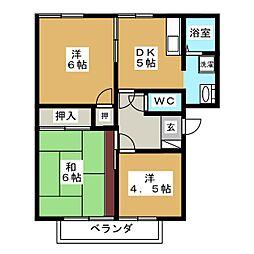 プロムナードFUKUTA A棟[2階]の間取り