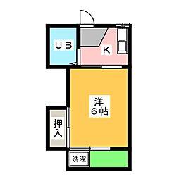 ミユキハイツ[1階]の間取り