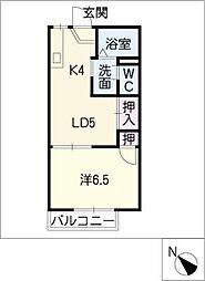 VILLA中島 B棟[2階]の間取り