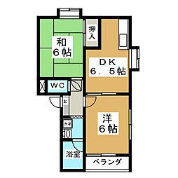 ザ・フォレスティII[2階]の間取り