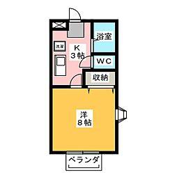 アネックス オジメ[2階]の間取り