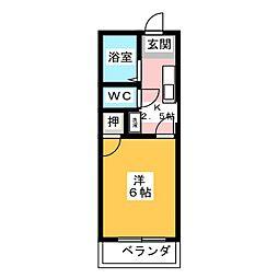 ビューハイツ桜田[4階]の間取り