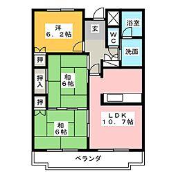 ハイレジデンスL[2階]の間取り