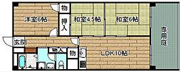 高槻ファミリーハイツA・B棟[B104号室]の間取り