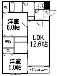 KOKOMO手稲[101号室]の間取り