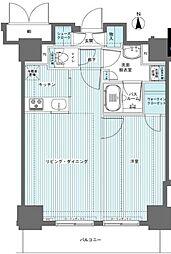 京王線 初台駅 徒歩5分の賃貸マンション 12階1LDKの間取り