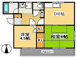 コンフォートハウス[4階]の間取り