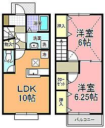 桜花[106号室]の間取り