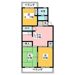 JEAN PALACE 21[3階]の間取り