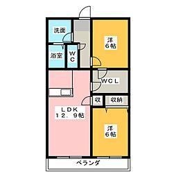 ヒルサイドテラス[3階]の間取り