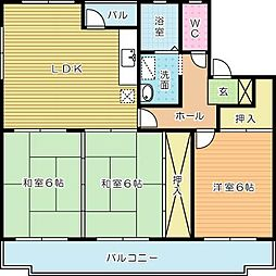 プレジデントタカヤ5[102号室]の間取り