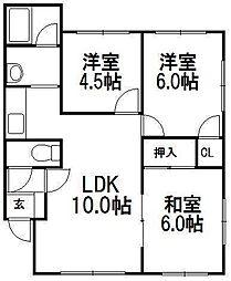田中南ハイツ[2階]の間取り