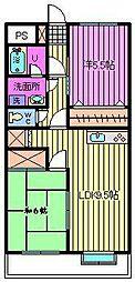 埼玉県さいたま市桜区町谷3丁目の賃貸マンションの間取り