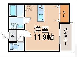 クラウンハイツ和歌浦東[2-B号室]の間取り