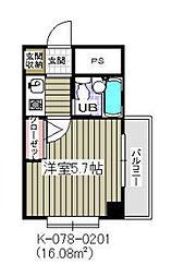 千葉県市川市行徳駅前2の賃貸マンションの間取り