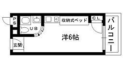 ピュアハウス甲子園[205号室]の間取り