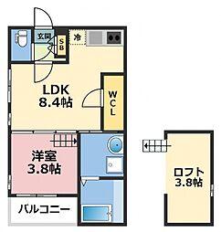 (仮称)ハーモニーテラス東大阪市花園東町一丁目A棟[201号室号室]の間取り