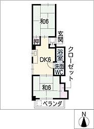 竹中ビル[4階]の間取り