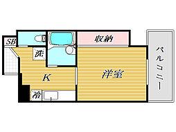 東京都豊島区東池袋5丁目の賃貸マンションの間取り
