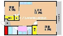 ニコニコビル[5階]の間取り