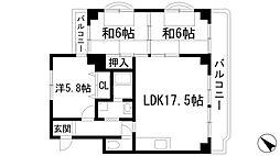 宝塚グリーンハイツ4号館[5階]の間取り