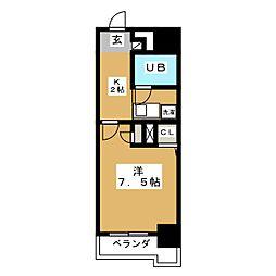 ライオンズマンション名駅西402[4階]の間取り