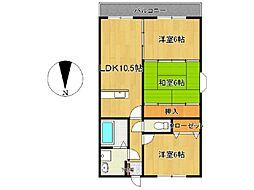 リバティハウス西築地[101号室]の間取り