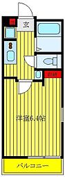 メゾン・ド・ソレイユ三ノ輪 3階1Kの間取り
