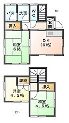 [一戸建] 千葉県市原市西広3丁目 の賃貸【/】の間取り