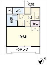 フィオーレ東新町[2階]の間取り