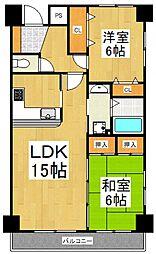 セジュール東所沢[2階]の間取り
