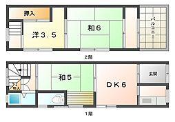 [テラスハウス] 大阪府守口市高瀬町1丁目 の賃貸【/】の間取り