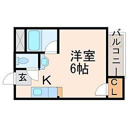マリオン甲子園[3階]の間取り