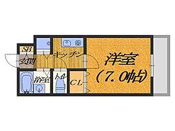 大阪府堺市堺区少林寺町東4丁の賃貸マンションの間取り