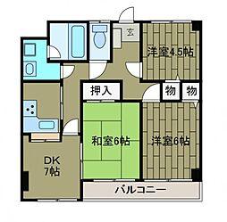 プライムガーデン1[2階]の間取り